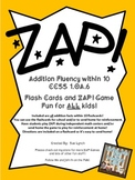 !ZAP! Math Reinforcement Game Adding within 10 Addition Fl
