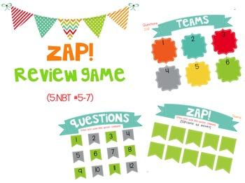 ZAP Math Review Game! NBT #7 (addition & subtraction)