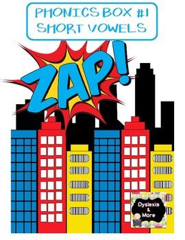 ZAP! Phonics Box #1 - Short Vowels