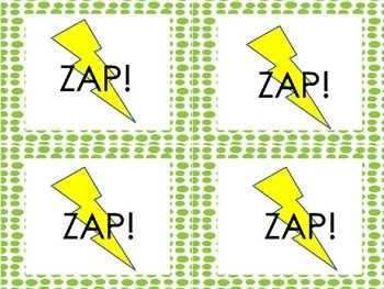 Sight Word Game - ZAP! Sight Word List 2