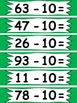 !ZAP! Reinforcement Game Subtracting 10 from 2 digit numbe
