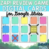 ZAP! Review Game Digital Cards for Google Slides