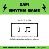 ZAP Rhythm Game - Level 1 Rhythms