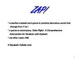 Phonics:  Y to I changing rule ZAP!