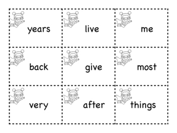 ZAP game- 2nd 100 FRY words