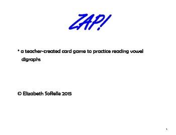 Phonics:  Vowel Digraph ZAP!
