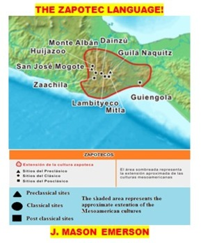MEXICO SERIES: ZAPOTEC LANGUAGE  AND PEOPLE LEARNING PACK!