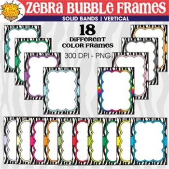 ZEBRA BUBBLE FRAMES *vertical set* by Oodles for Little Noodles