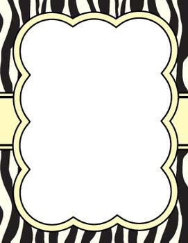 ZEBRA BUBBLE FRAMES *vertical set*