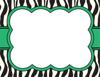 ZEBRA BUBBLE FRAMES *horizontal set*