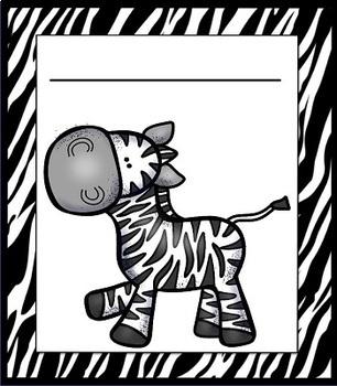 Zebra Classroom Decor and More Set