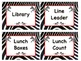 ZEBRA Job Chart Cards/Signs - Great for Classroom Management! ADORABLE!