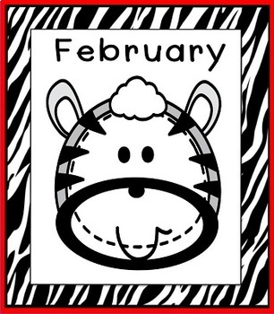 Zebra Theme Months of the Year Posters