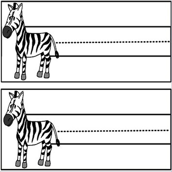 Zebra Colored Name Plates