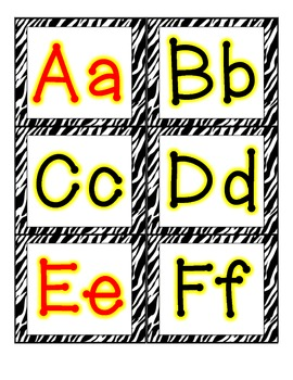 ZEBRA Word Wall ABC Headers FREEBIE