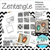 ZENTANGLE GEMS-How to add zentangle to gems drawings