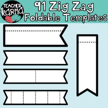 ZIG ZAGS: 91 Foldables, Interactives, Flip Book Templates