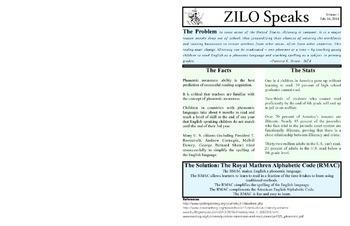 ZILO Speaks