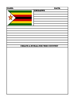 ZIMBABWE Summary Writing and Mural Assignment