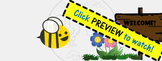 ZING Banners! Animated TpT Banner: Buzzing Bee! {Animated Quote Box}
