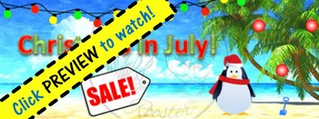 ZING Banners! Animated TpT Banner: Christmas in July Sale {Animated Quote Box}