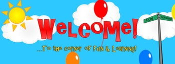 FREE ZING Banner! Animated TpT Banner: Welcome {Animated Quote Box}