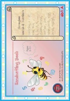 ZIP:6bA 1,2,3: HANDWRITING BOOKLETS - L - M - S - ALL HONEY BEE VOCABULARY