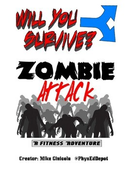 ZOMBIE Adventure (Students Choose Their Path) with Fitness & Locomotor!
