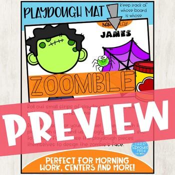 ZOMBIE BOY SET - Easy Peasy Halloween Creativity Pack - PreK, Kinder, Preschool