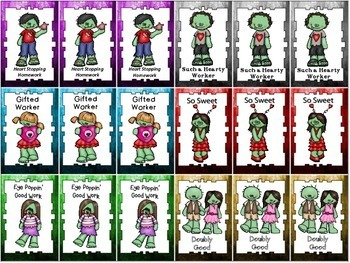 ZOMBIE Homework Management System (Punch Cards, Brag Tags, Coupons)