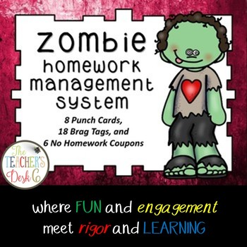 ZOMBIE Homework Management System (Punch Cards, Brag Tags,