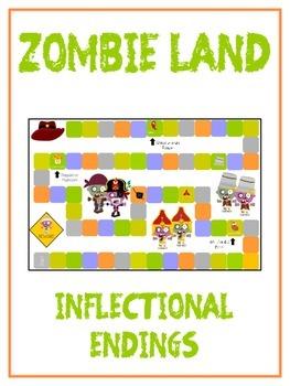 ZOMBIELAND Inflectional Word Endings - ELA First Grade Gam
