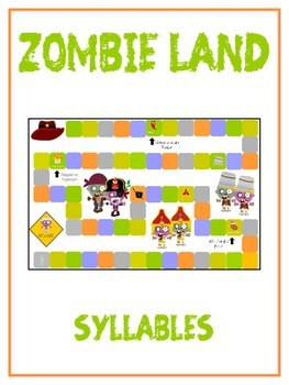 ZOMBIELAND Syllables - ELA First Grade Folder Game - Word