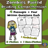 ZOMBIES Reading Comprehension, Zombie Passage, Zombie Reading, Zombie Fun