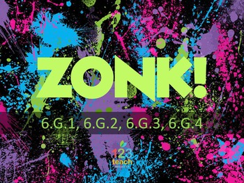 ZONK! 6th Grade Math Review Game - Area & Volume CCSS 6.G.