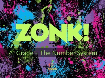 ZONK! Integer Operations Review Game 7th Grade Common Core 7.NS.1 - 7.NS.3