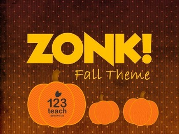 ZONK! FREE Fall / Halloween Themed Powerpoint Review Game Board