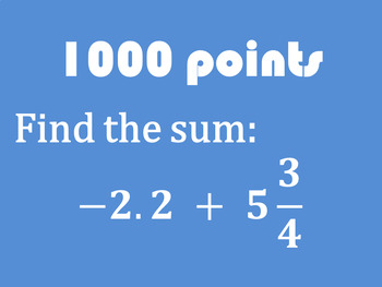 ZONK! Rational Number Operations Review Game (7.NS.1, 7.NS.2, 7.NS.3)