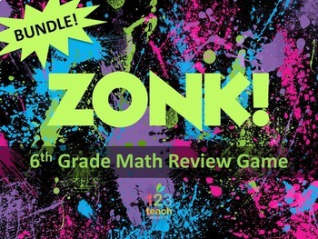 ZONK Review Game BUNDLE for 6th Grade Math!