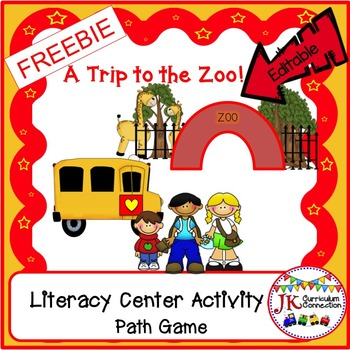 ZOO - A Trip to the Zoo Path Game FREEBIE!