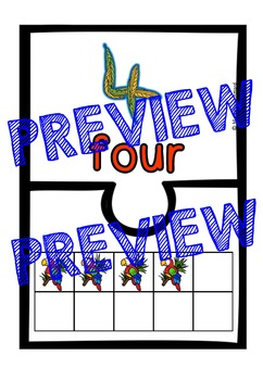 ZOO ANIMAL PUZZLES: TEN FRAME MATCHING GAME: NUMBERS O - 10