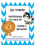 ZOO ANIMAL THEMED Addition & Subtraction Key Words