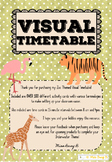 ZOO / ANIMAL THEMED VISUAL TIMETABLE
