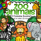 ZOO ANIMALS Informational Foldable Booklets
