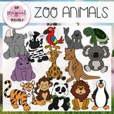 ZOO ANIMALS CLIP ART!