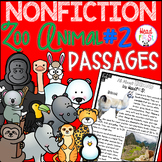 ZOO ANIMALS Guided Reading Passages Nonfiction - BUNDLE 2