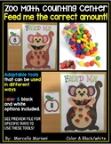 Monkey theme counting math center activities for preschool and kindergarten
