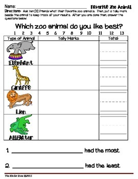 ZOO ANIMALS MATH GRAPHING UNIT & CENTER ACTIVITIES SET!