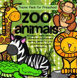 ZOO ANIMALS Math and Literacy Centers and Activities for Preschool and Pre-K BIG