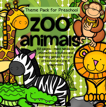 Zoo Animals Math And Literacy Centers And Activities For Preschool And Pre K Big